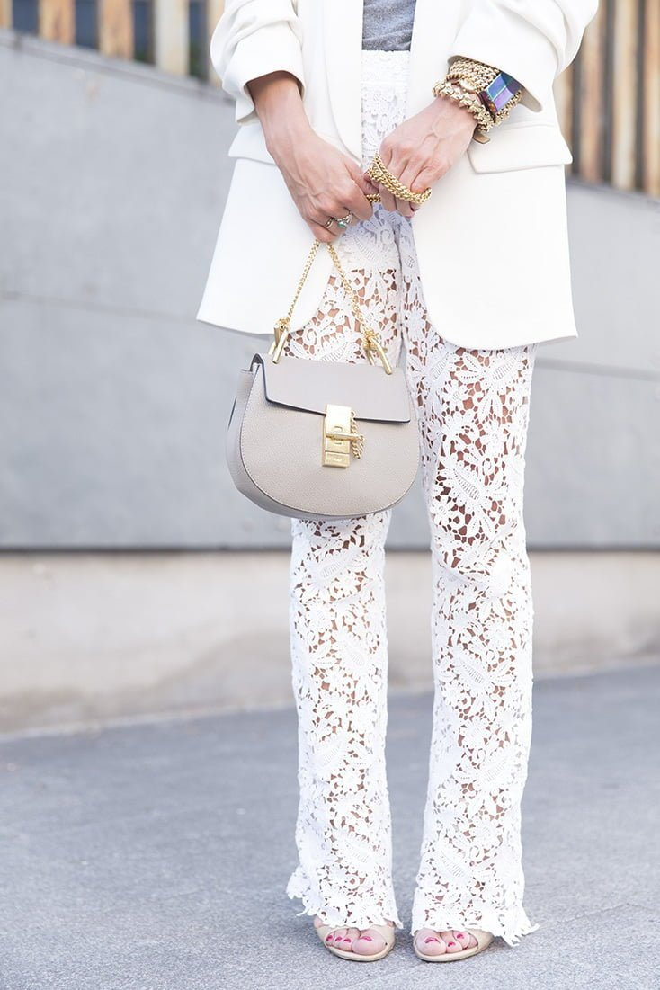 Dantelli Beyaz Pantolon Modelleri