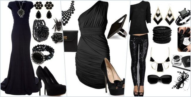 Siyah Elbise Kombin Modelleri Bayanincom