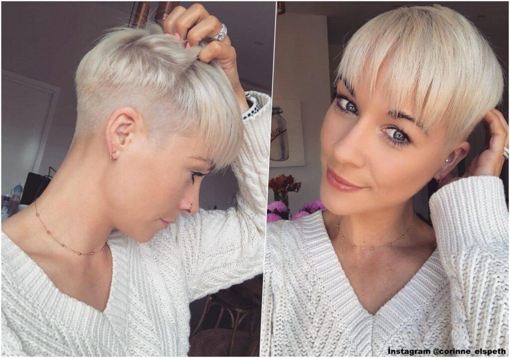 Bebek Sarısı Kısa Saç Modeli